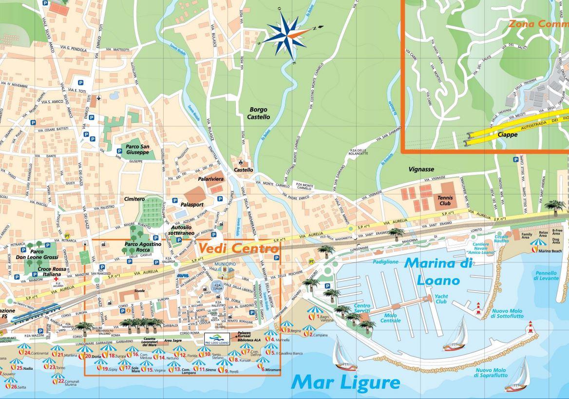 Cartina It.La Cartina Di Loano Pro Loco Loano